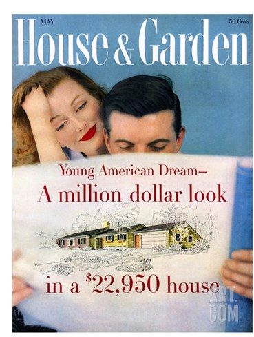 House & Garden Cover - May 1958 Stretched Canvas Print