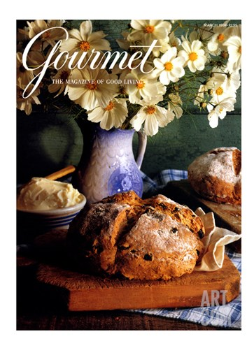Gourmet Cover - March 1994 Stretched Canvas Print