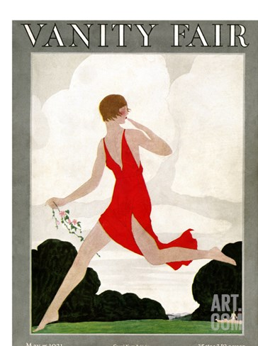 Vanity Fair Cover - May 1921 Stretched Canvas Print