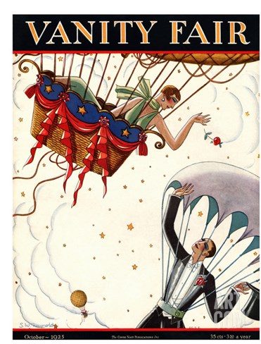 Vanity Fair Cover - October 1925 Stretched Canvas Print