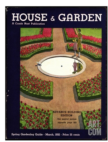 House & Garden Cover - March 1932 Stretched Canvas Print