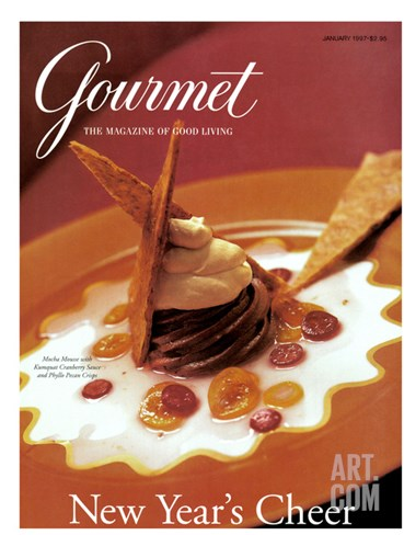Gourmet Cover - January 1997 Stretched Canvas Print