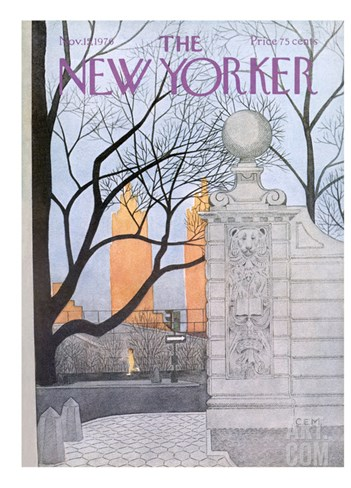 The New Yorker Cover - November 15, 1976 Stretched Canvas Print