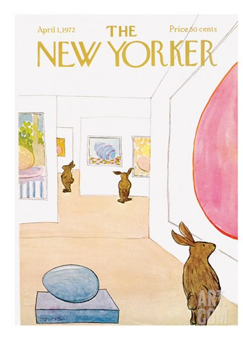 The New Yorker Cover - April 1, 1972 Stretched Canvas Print