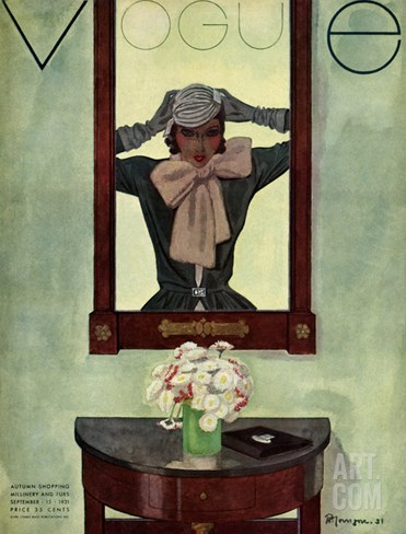 Vogue Cover - September 1931 Stretched Canvas Print