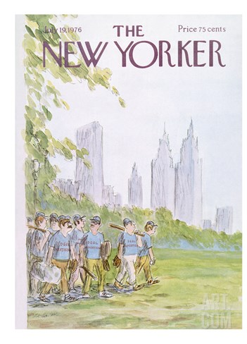 The New Yorker Cover - July 19, 1976 Stretched Canvas Print