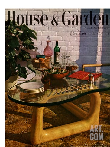 House & Garden Cover - July 1945 Stretched Canvas Print