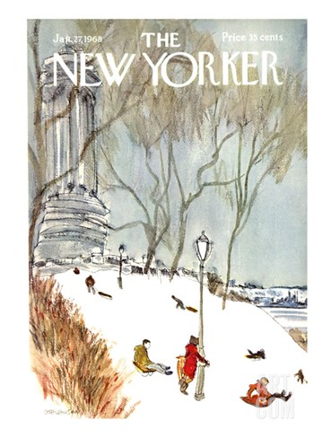 The New Yorker Cover - January 27, 1968 Stretched Canvas Print