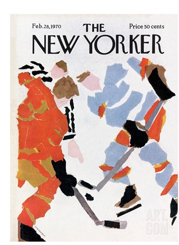 The New Yorker Cover - February 28, 1970 Stretched Canvas Print