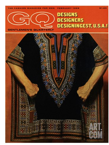 GQ Cover - February 1968 Stretched Canvas Print
