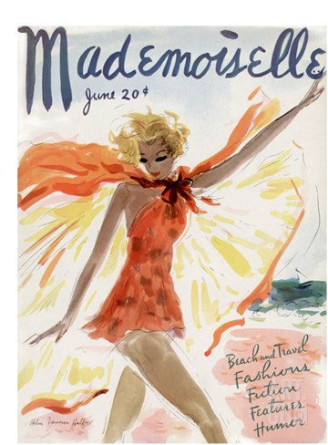 Mademoiselle Cover - June 1936 Stretched Canvas Print
