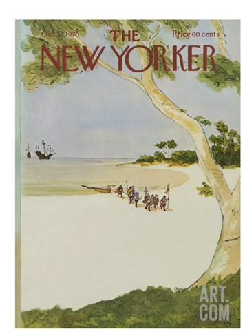 The New Yorker Cover - October 13, 1975 Stretched Canvas Print