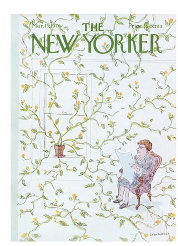 The New Yorker Cover - March 15, 1976 Stretched Canvas Print
