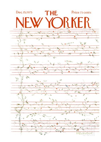 The New Yorker Cover - December 15, 1975 Stretched Canvas Print