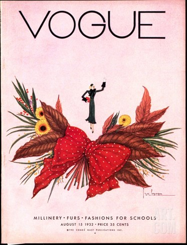 Vogue Cover - August 1932 Stretched Canvas Print