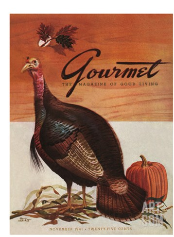 Gourmet Cover - November 1941 Stretched Canvas Print