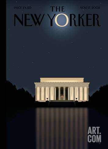 The New Yorker Cover - November 17, 2008 Stretched Canvas Print