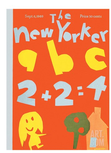 The New Yorker Cover - September 6, 1969 Stretched Canvas Print