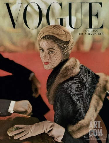 Vogue Cover - November 1948 Stretched Canvas Print