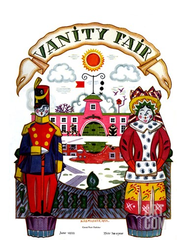 Vanity Fair Cover - June 1922 Stretched Canvas Print