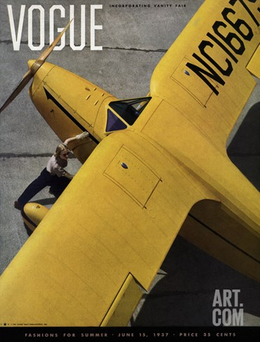 Vogue Cover - June 1937 Stretched Canvas Print