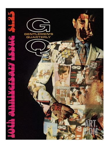 GQ Cover - December 1967 Stretched Canvas Print