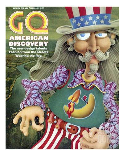 GQ Cover - February 1971 Stretched Canvas Print