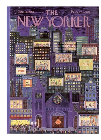The New Yorker Cover - December 16, 1961 Stretched Canvas Print