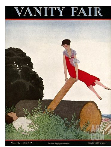 Vanity Fair Cover - March 1926 Stretched Canvas Print