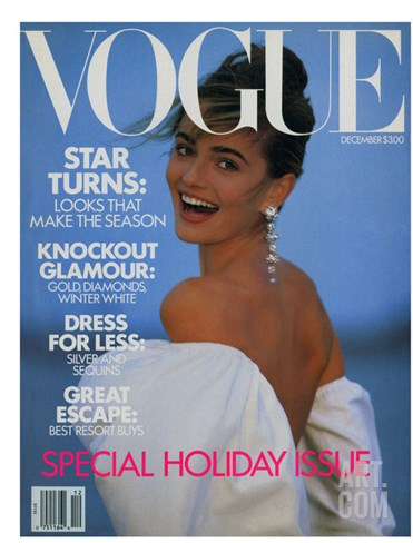 Vogue Cover - December 1989 Stretched Canvas Print