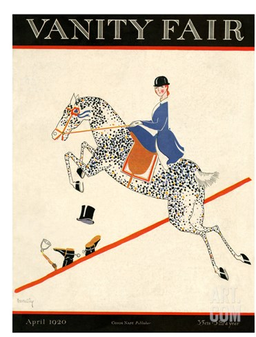 Vanity Fair Cover - April 1920 Stretched Canvas Print