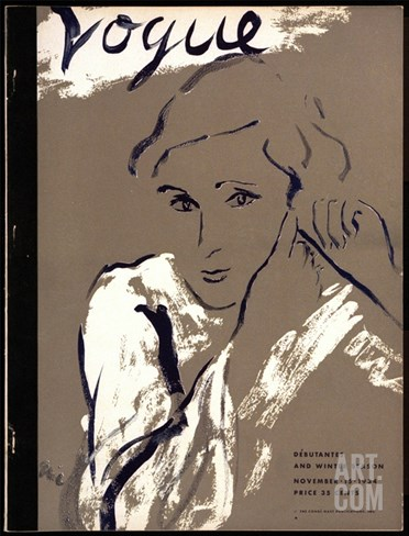Vogue Cover - November 1934 Stretched Canvas Print
