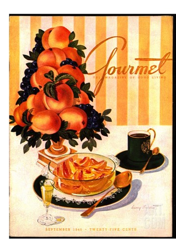 Gourmet Cover - September 1945 Stretched Canvas Print