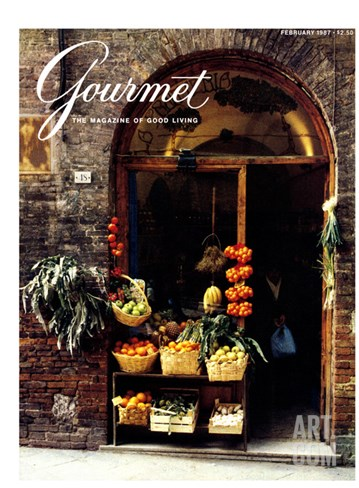 Gourmet Cover - February 1987 Stretched Canvas Print