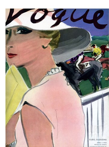 Vogue Cover - April 1933 Stretched Canvas Print