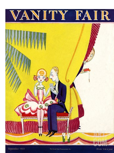 Vanity Fair Cover - September 1923 Stretched Canvas Print