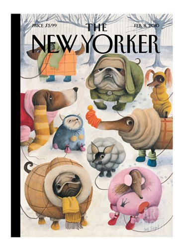 The New Yorker Cover - February 8, 2010 Stretched Canvas Print