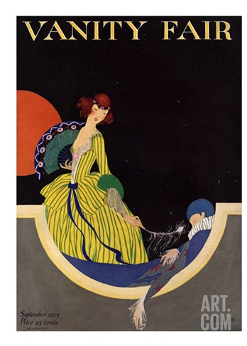 Vanity Fair Cover - September 1915 Stretched Canvas Print