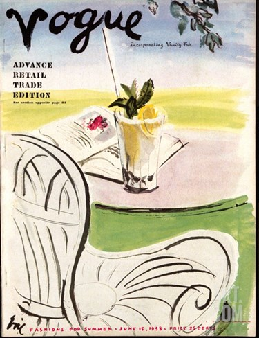 Vogue Cover - June 1938 Stretched Canvas Print