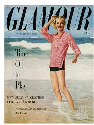 Glamour Cover - May 1954 Stretched Canvas Print