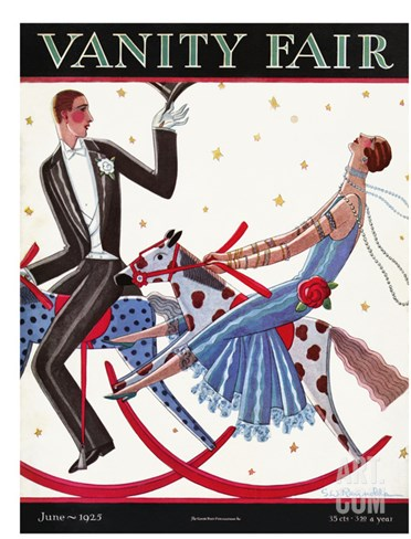 Vanity Fair Cover - June 1925 Stretched Canvas Print