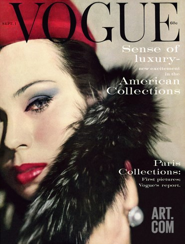 Vogue Cover - September 1959 Stretched Canvas Print