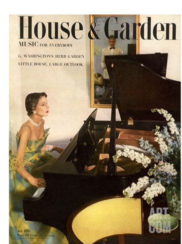 House & Garden Cover - July 1950 Stretched Canvas Print