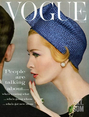 Vogue Cover - April 1959 Stretched Canvas Print