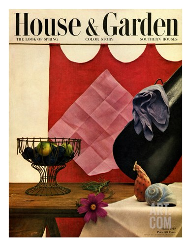 House & Garden Cover - March 1949 Stretched Canvas Print