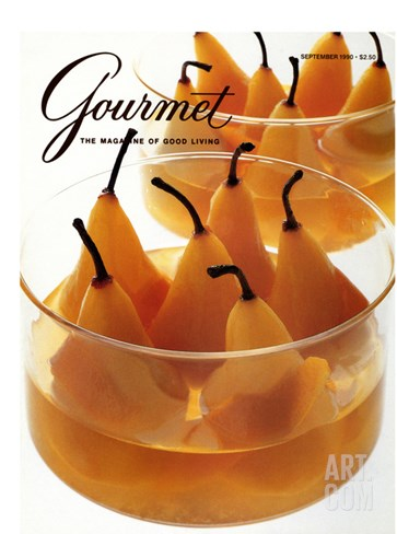 Gourmet Cover - September 1990 Stretched Canvas Print