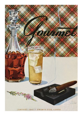 Gourmet Cover - January 1943 Stretched Canvas Print