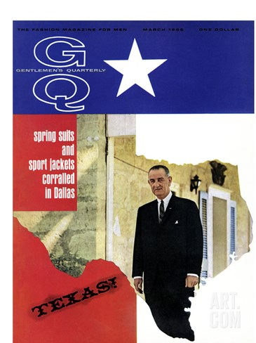 GQ Cover - March 1966 Stretched Canvas Print