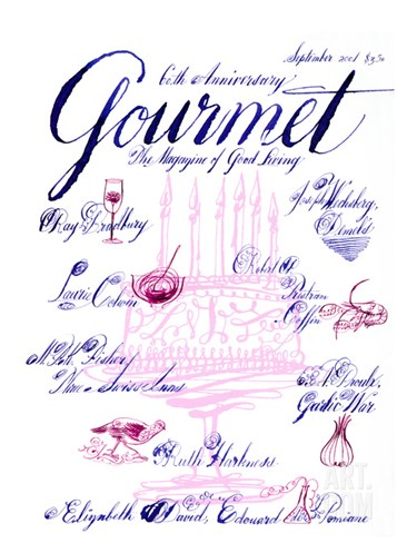 Gourmet Cover - September 2001 Stretched Canvas Print
