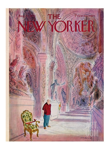 The New Yorker Cover - August 21, 1971 Stretched Canvas Print